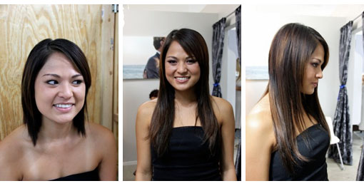All about hot heads extensions by tera rae stephens this is what the extensions look like in the hair they lay totally flat and you can barely feel them when you touch your head pmusecretfo Image collections