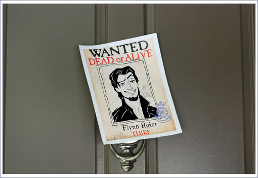Flynn Rider Wanted Poster http://www.tinyoranges.com/2011/11/02/tangled-theme-birthday-party-ideas/