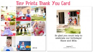 Kids' Birthday Thank You Photo Card