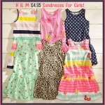 Super cute $4.95 sundresses for girls from H&M