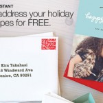 Minted.com will address your holiday card envelopes for free when you purchase your card through them!
