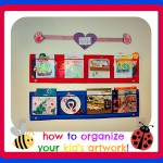 how to organize your kid's artwork - 2
