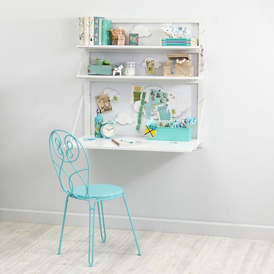 Three Tiers Wall Desk White