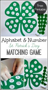 ABC and Number Match Shamrock