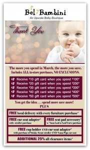 Bel Bambini Customer Appreciation Month