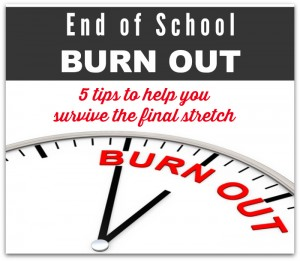 end of school burn out