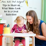 how to be a great babysitter