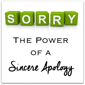 Teaching kids how to apologize